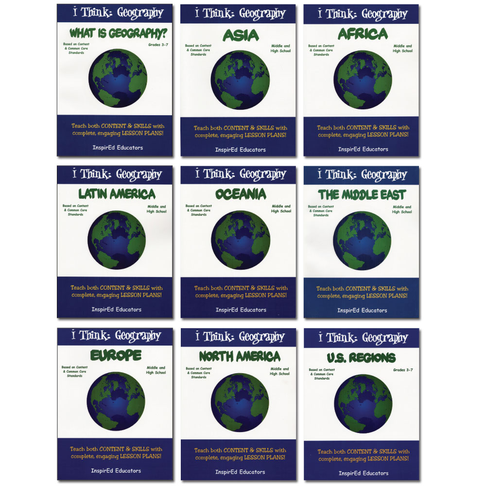 i Think: Geography, Regions of the World Activity Book Set (9)
