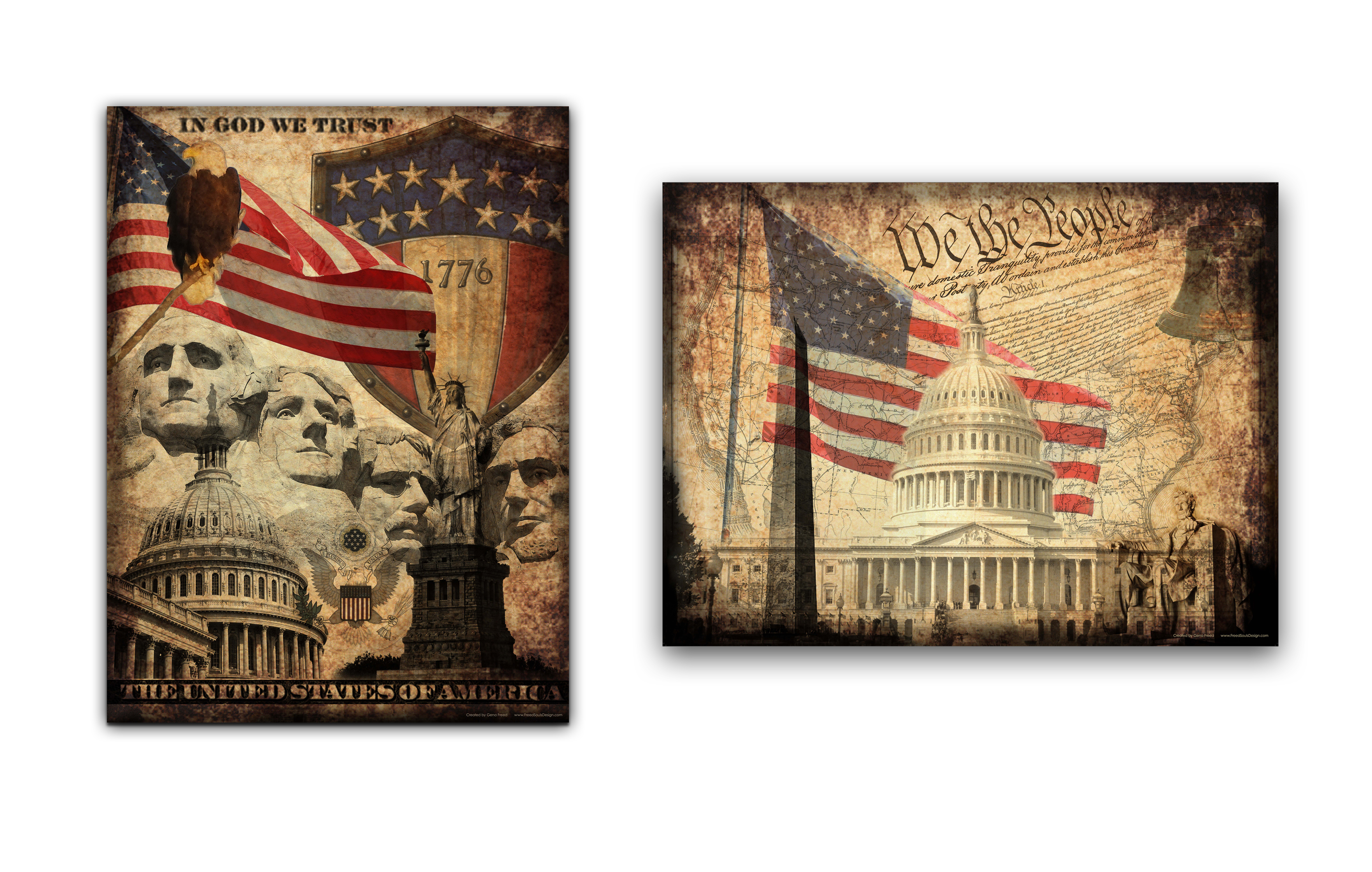National Pride Posters Set of 2