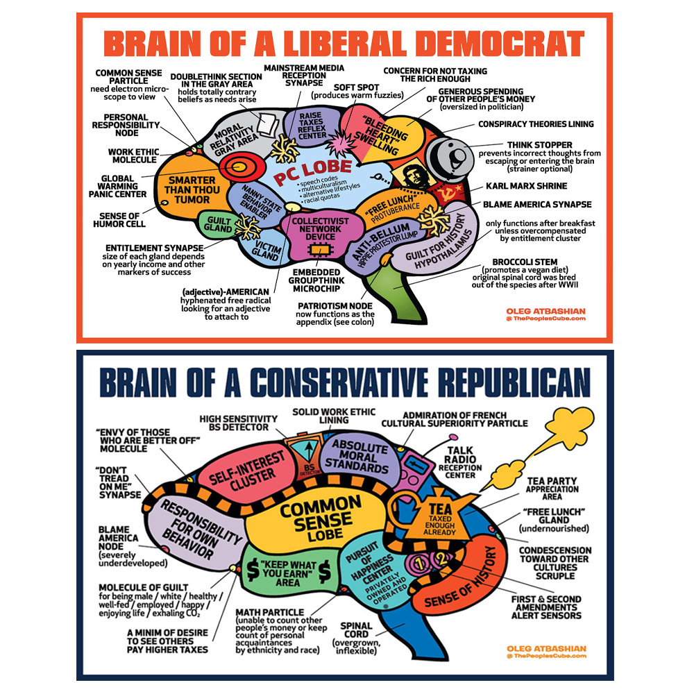Political Brains Set of 2 Posters