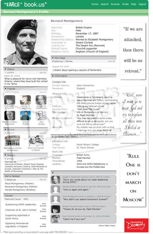 """Bernard Montgomery """"Farce"""" book Poster"""