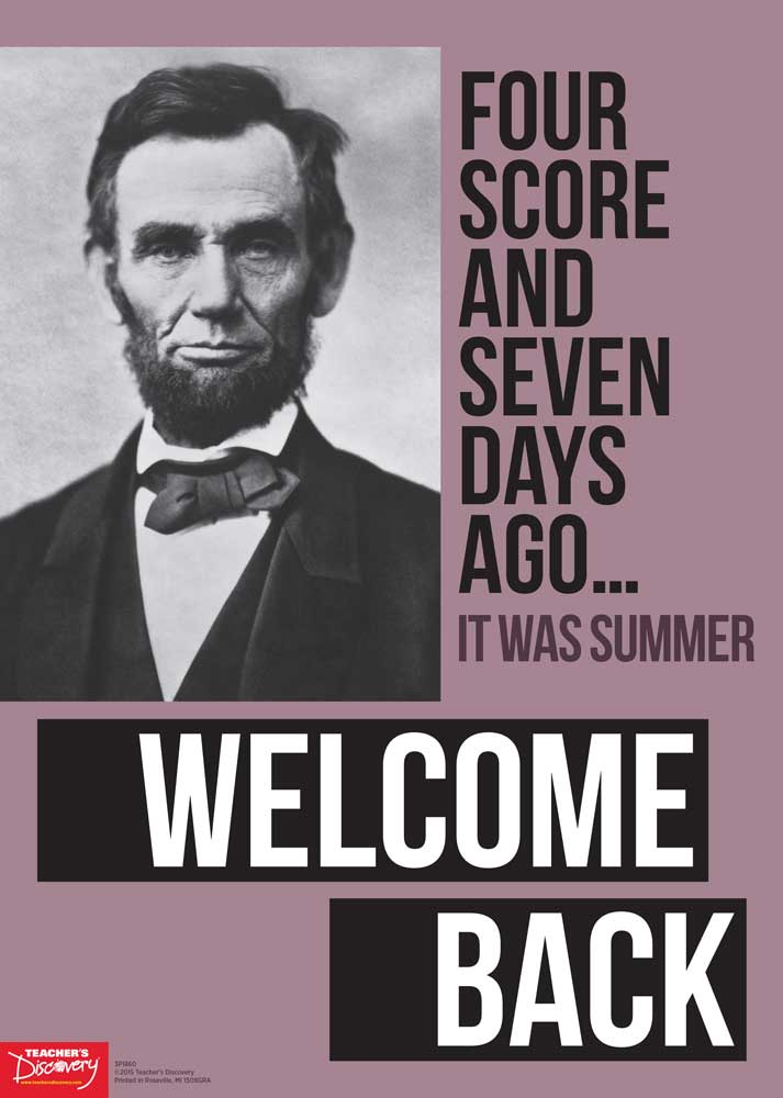 Welcome Back Lincoln Poster