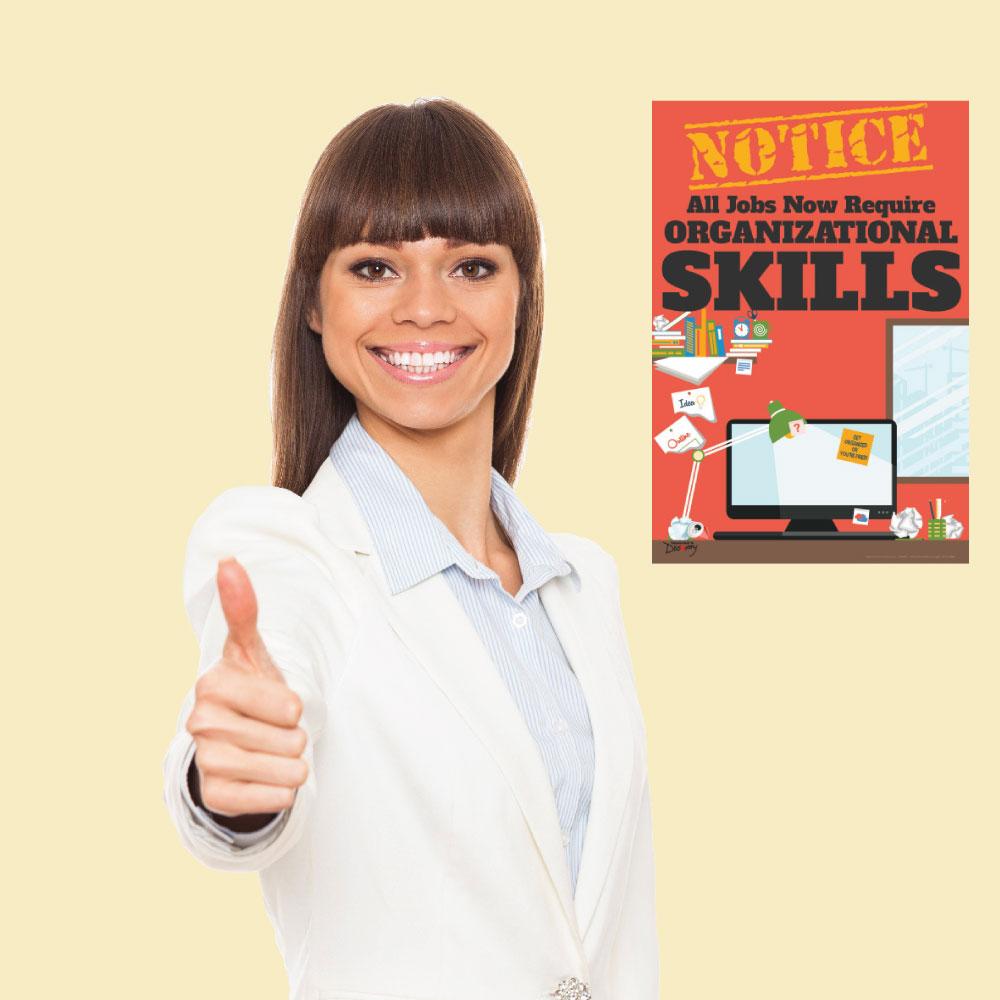 Official Notice Job Skills Mini-Poster:  Organizational Skills