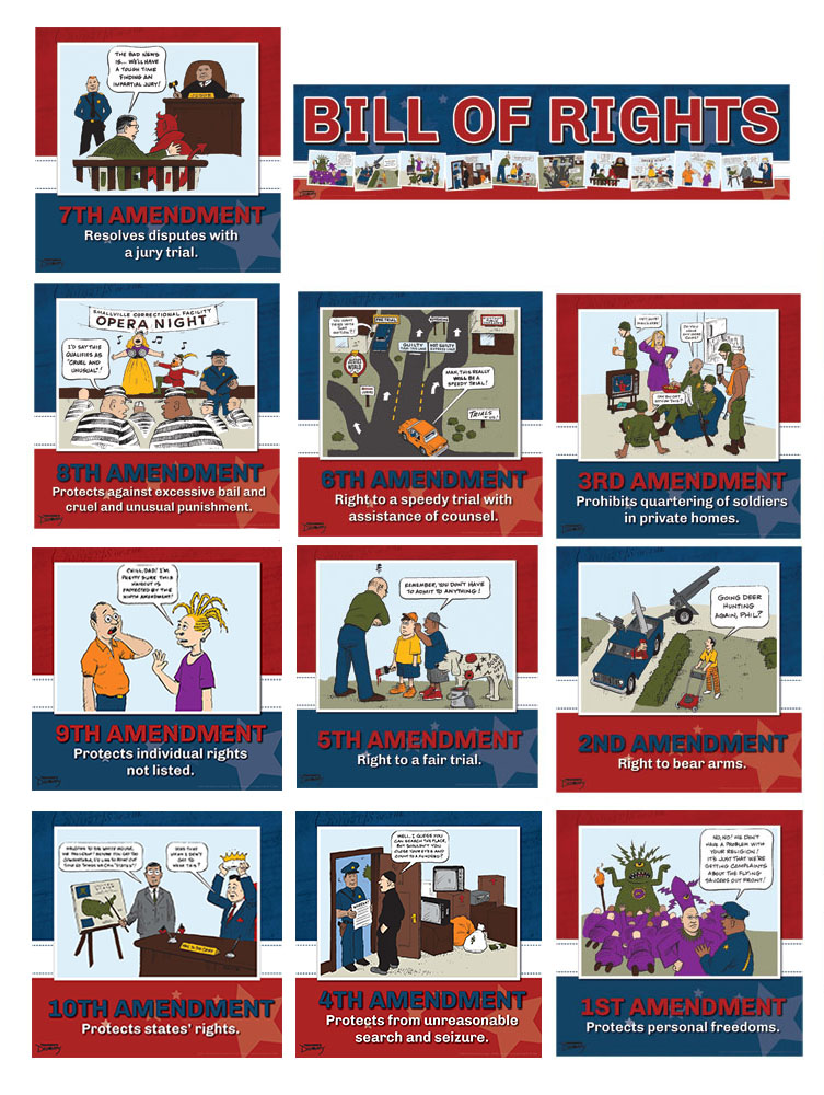 Bill of Rights Mini-Poster Set