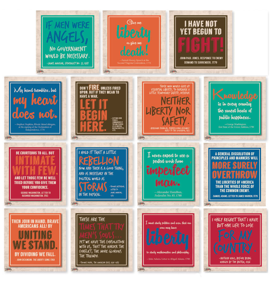 Wise Words of the Founders Mini-Poster Set of 15