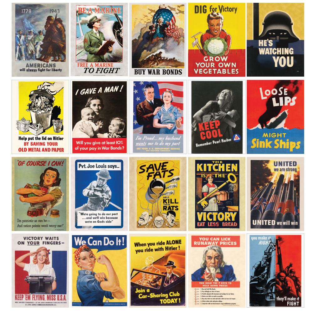 World War II Propaganda Mini-Poster Set