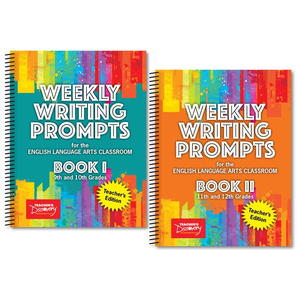 Weekly Writing Prompts for the English Language Arts Classroom I and II Teacher's Edition Book Set