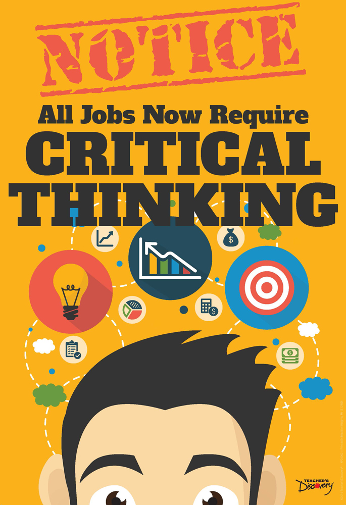 Official Notice Job Skills Mini-Poster:  Critical Thinking