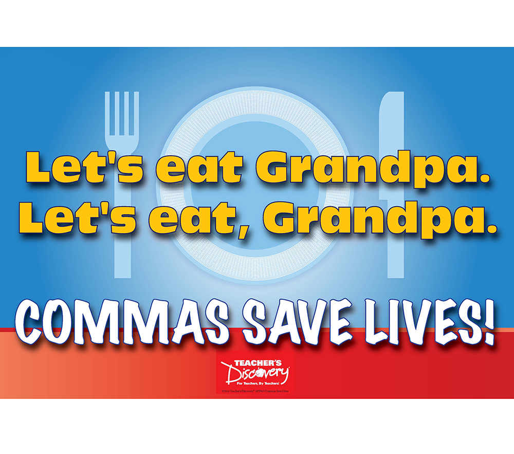 Commas Save Lives Mini-Poster