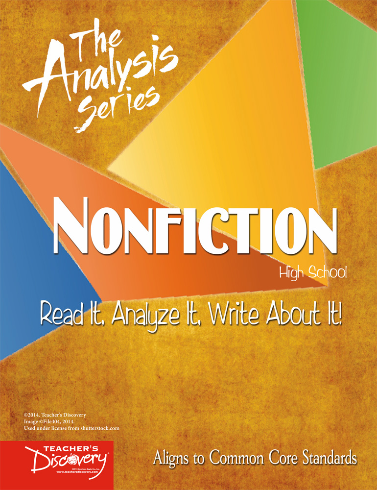 The Analysis Series: Nonfiction High School Book
