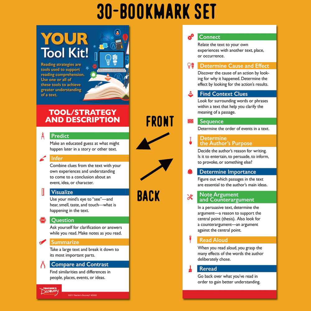 What's in Your Tool Kit? Bookmarks - Set of 30