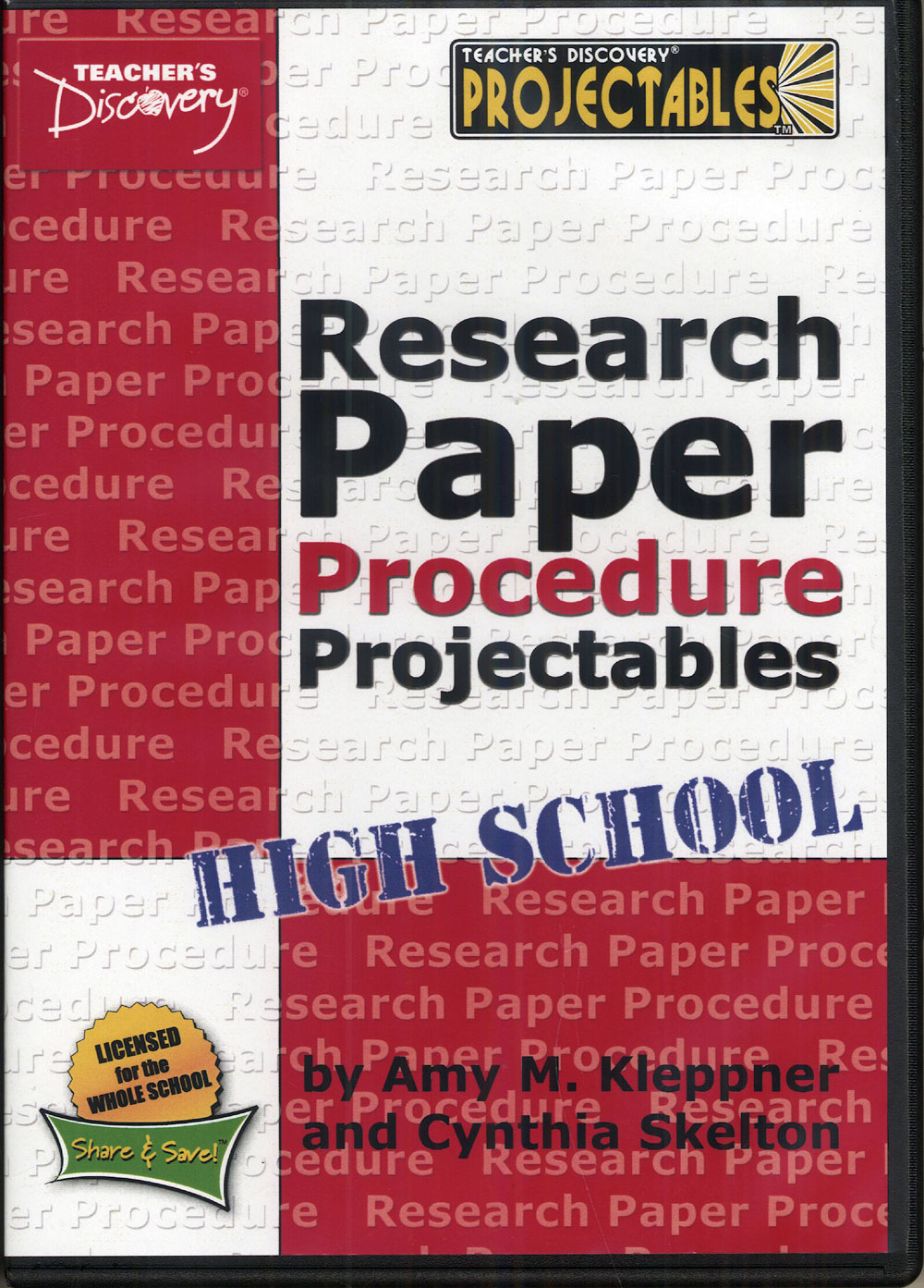Research Paper Procedure Projectables™