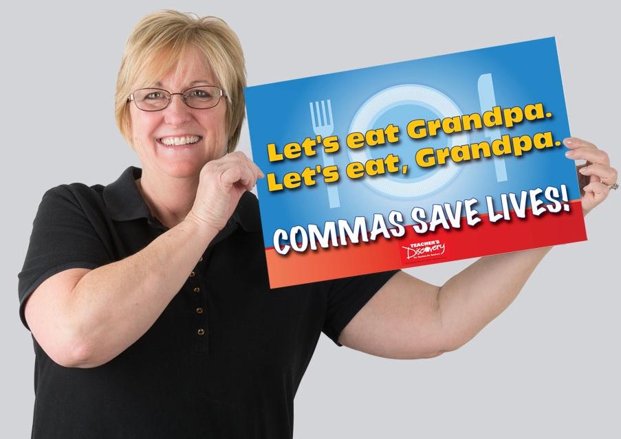 Commas Save Lives Mini-Poster