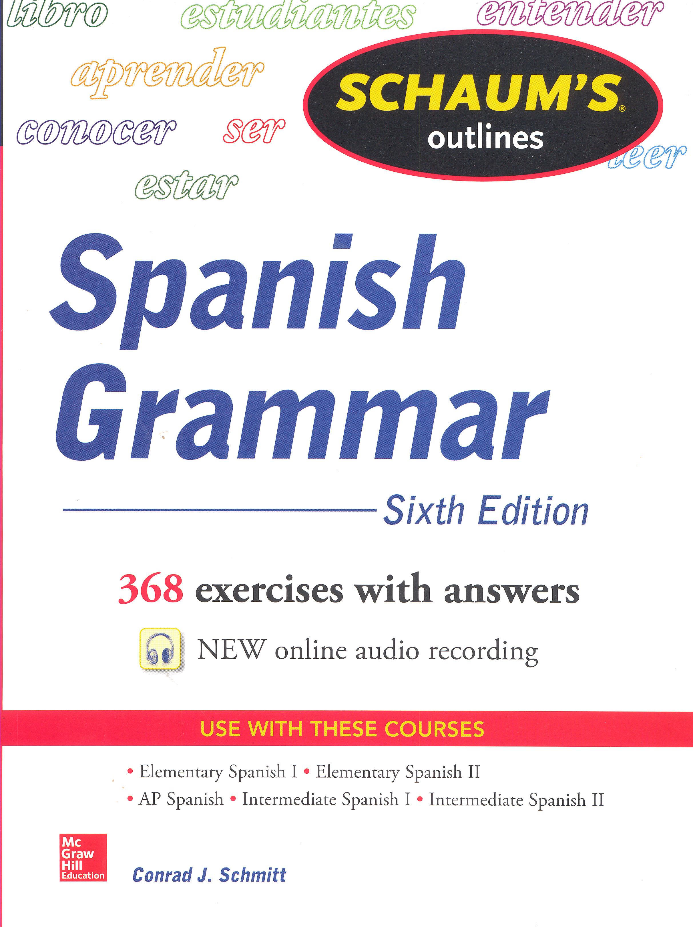 Schaum's Outlines for Spanish Grammar 5th Edition Book