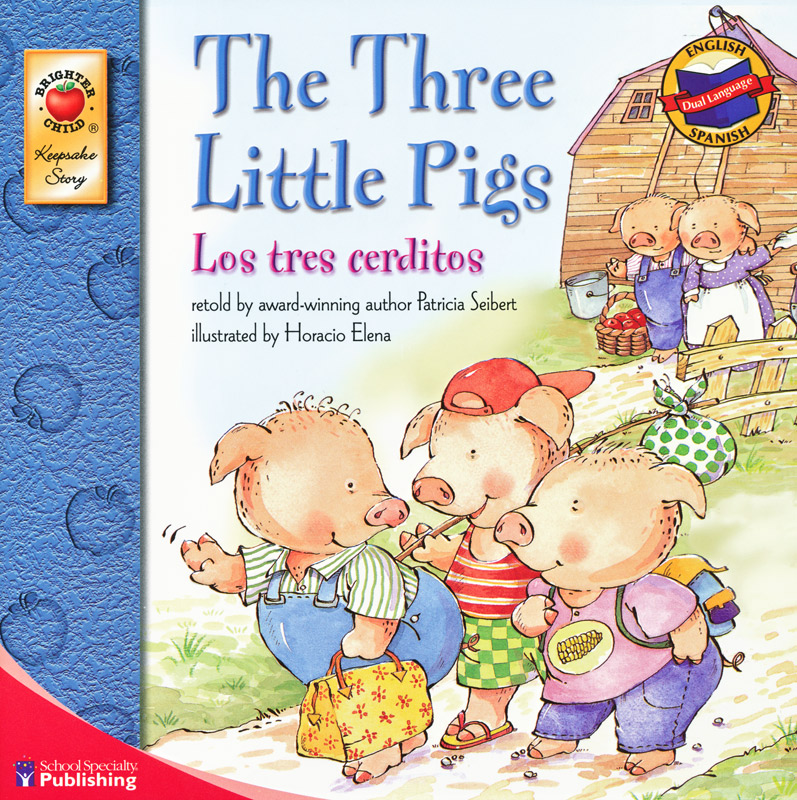 The Three Little Pigs Spanish/English Book