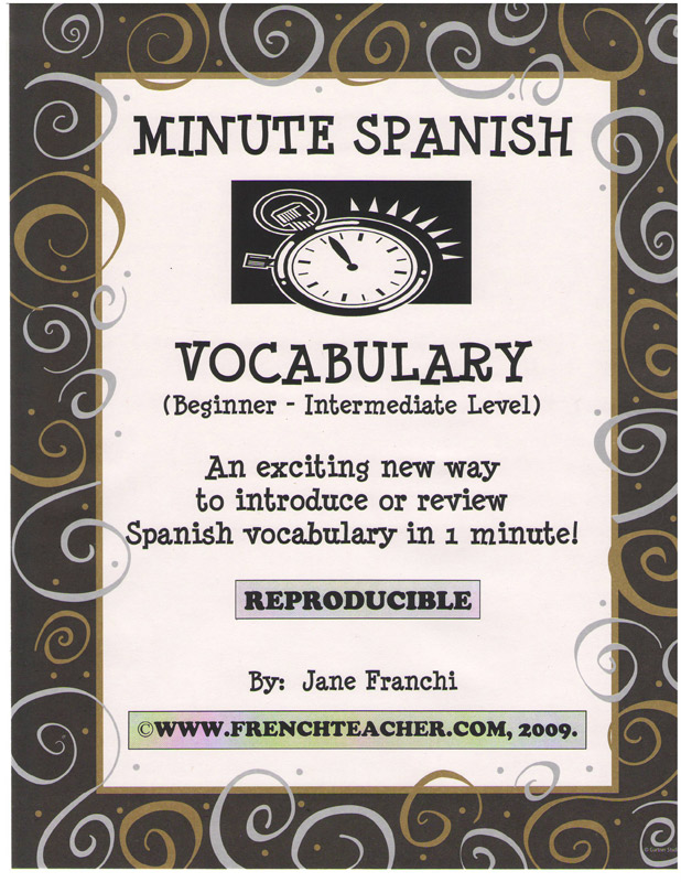 Minute Spanish Vocabulary Activity Packet