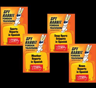 TV Clips Set of 4 Spanish Spy Rabbit DVDs