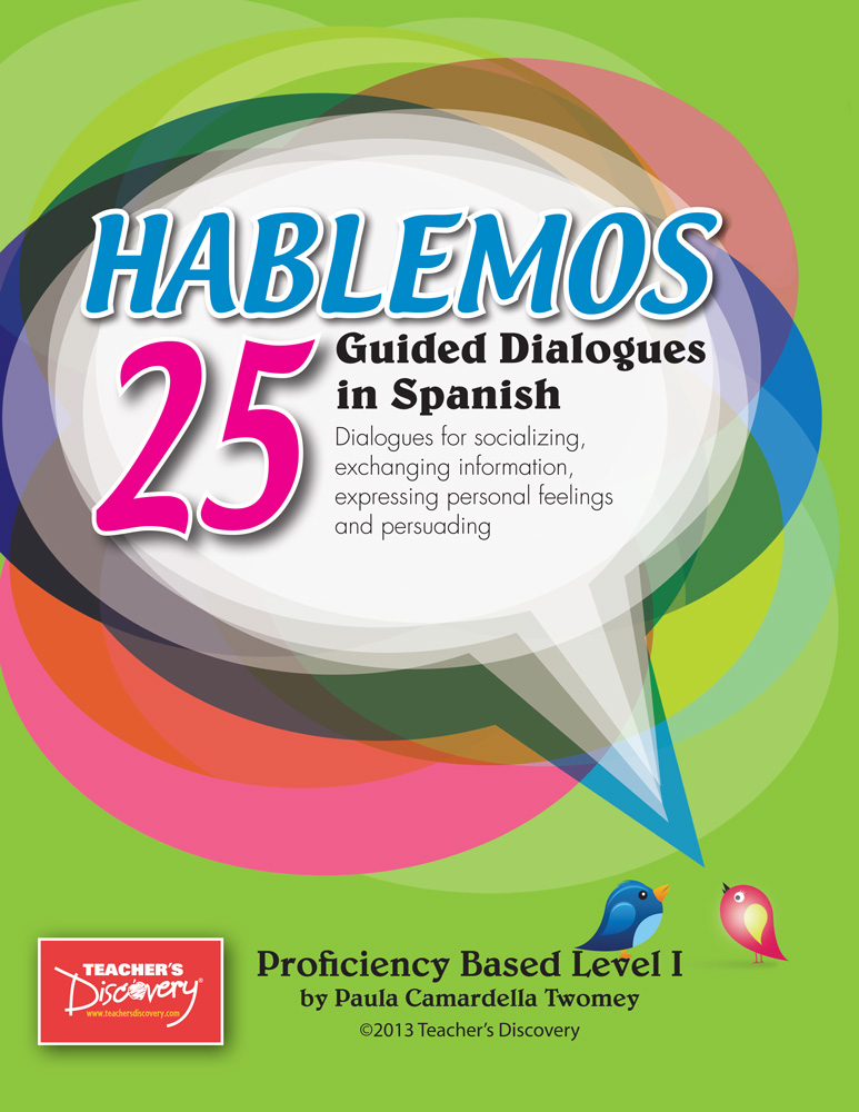 Hablemos: 25 Guided Dialogues in Spanish Book