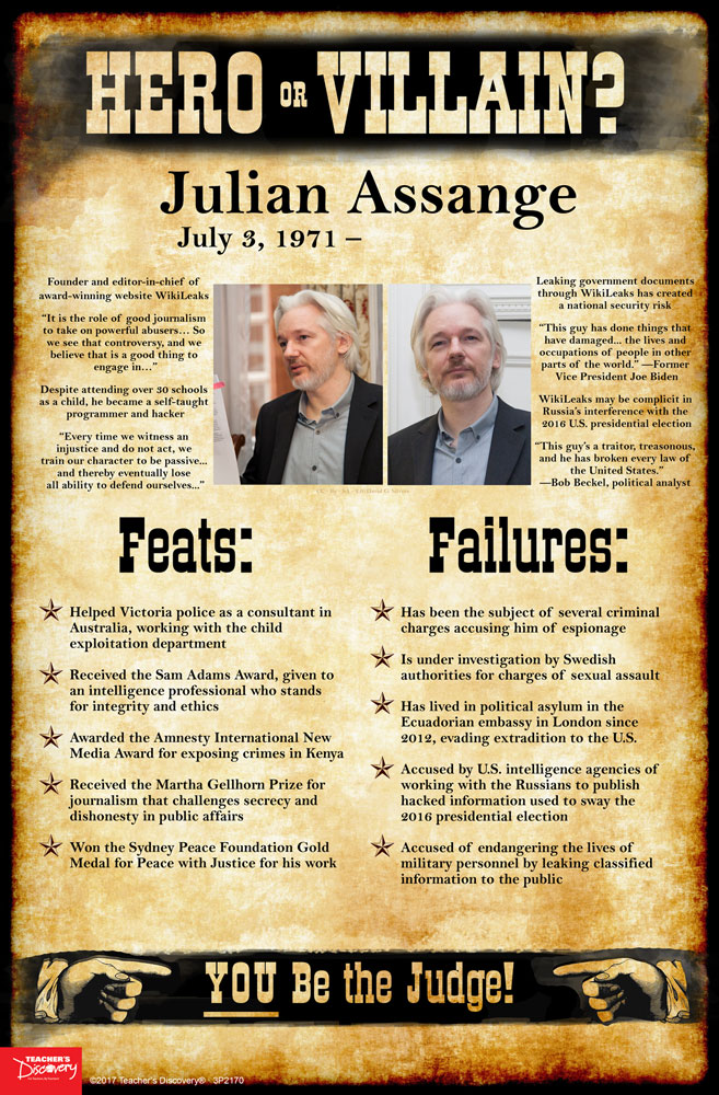 Julian Assange: Hero or Villain? Mini-Poster