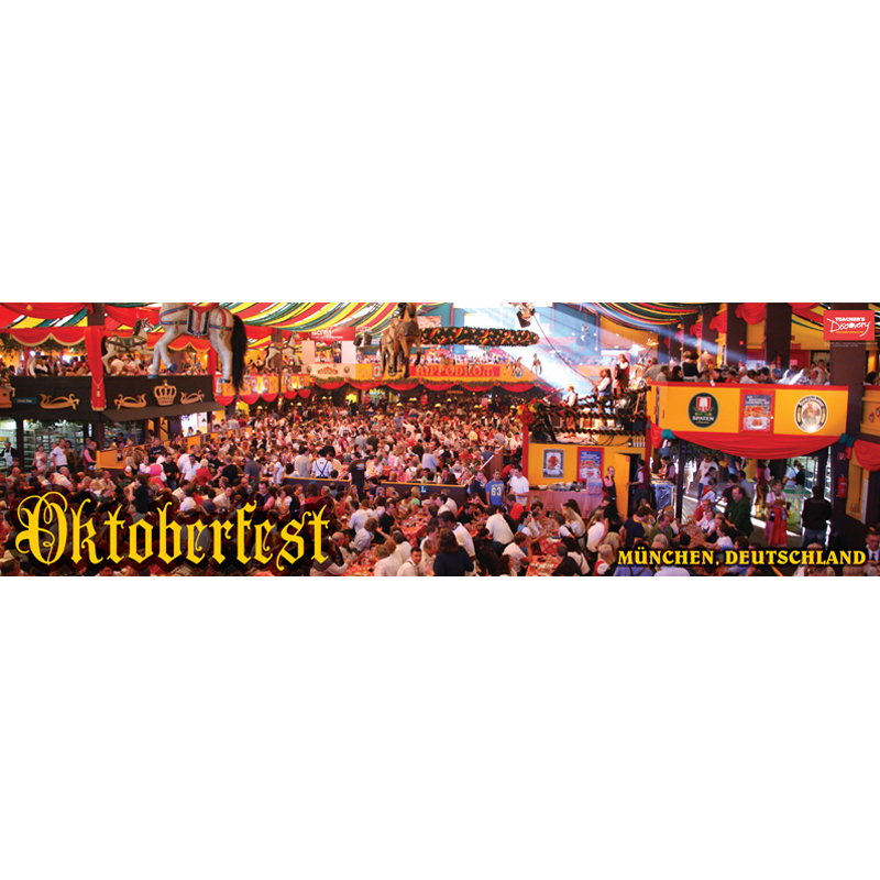 Oktoberfest Panoramic German Poster