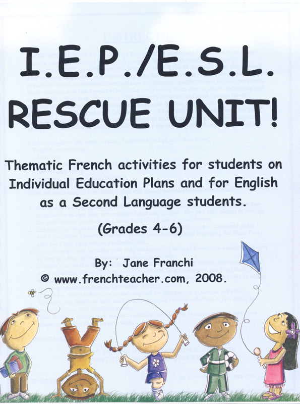 IEP/ESL Rescue Unit! Activity Packet