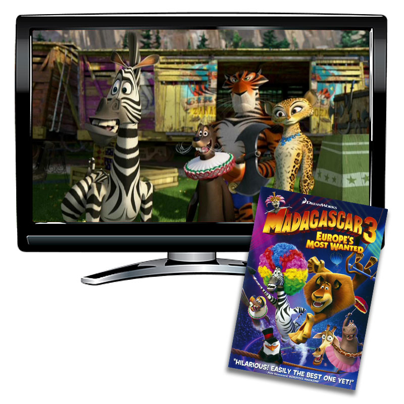 Madagascar 3:  Europe's Most Wanted Spanish / French / English DVD