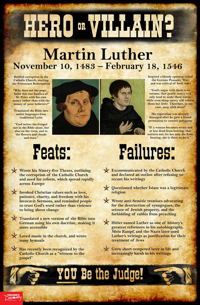 Martin Luther: Hero or Villain? Mini-Poster