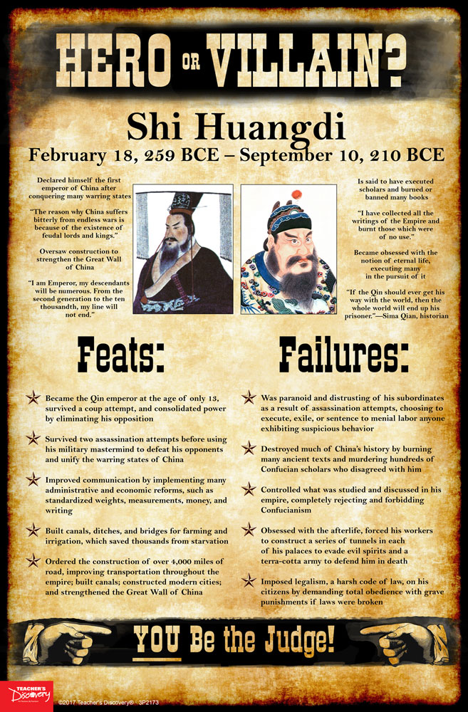 Shi Huangdi: Hero or Villain? Mini-Poster