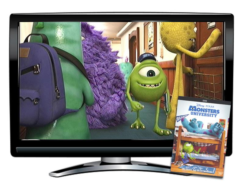 Monsters University Spanish DVD and Activity Packet
