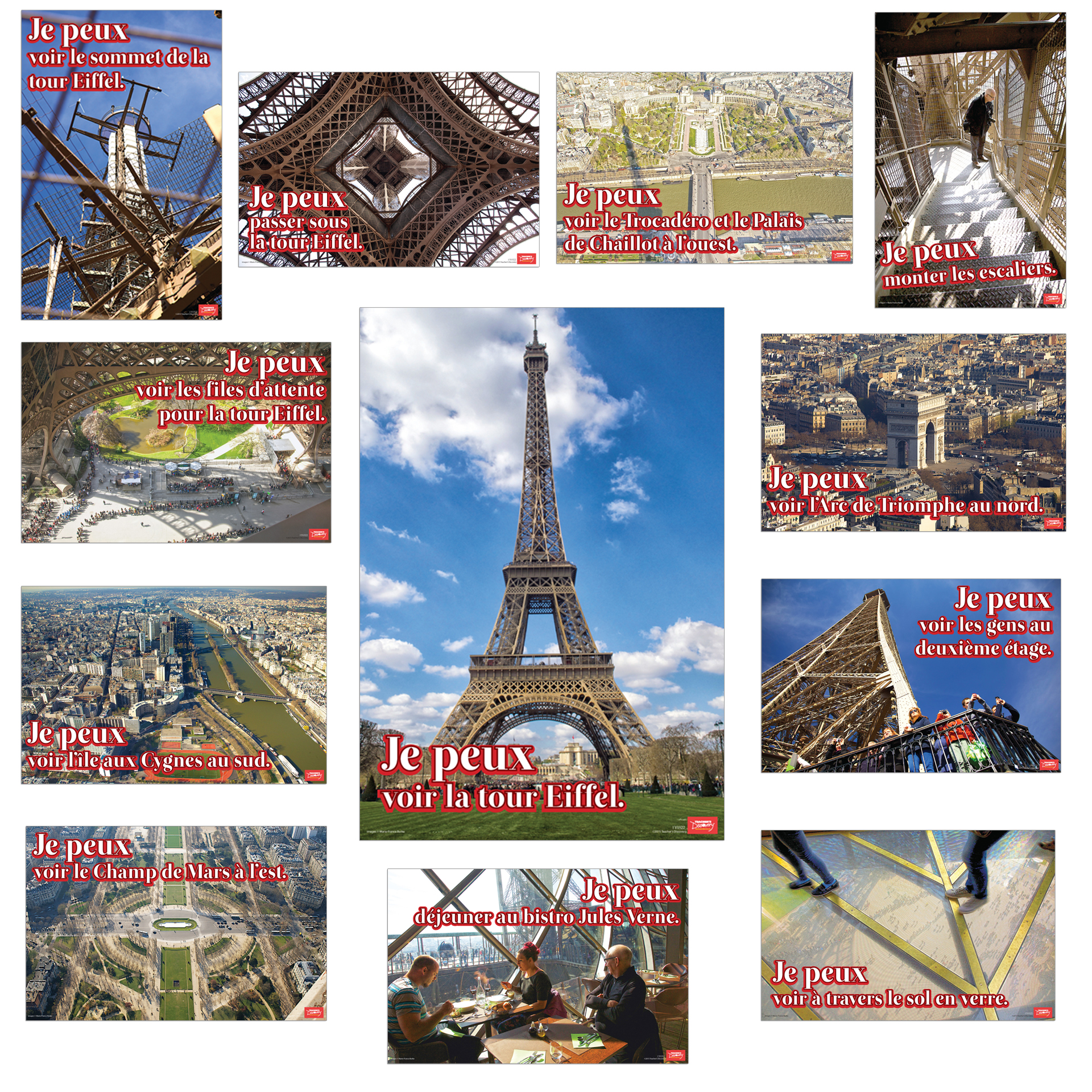Je peux voir la tour Eiffel Bulletin Board Set